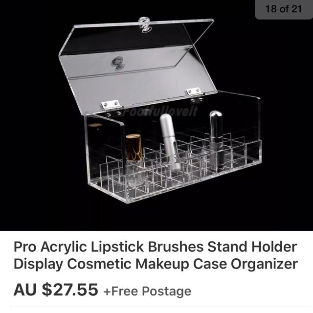 Acrylic Lipstick Holder With Cover