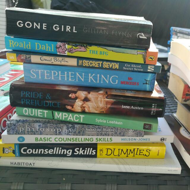 REDUCED Must Go Assorted Books Very Good Condition