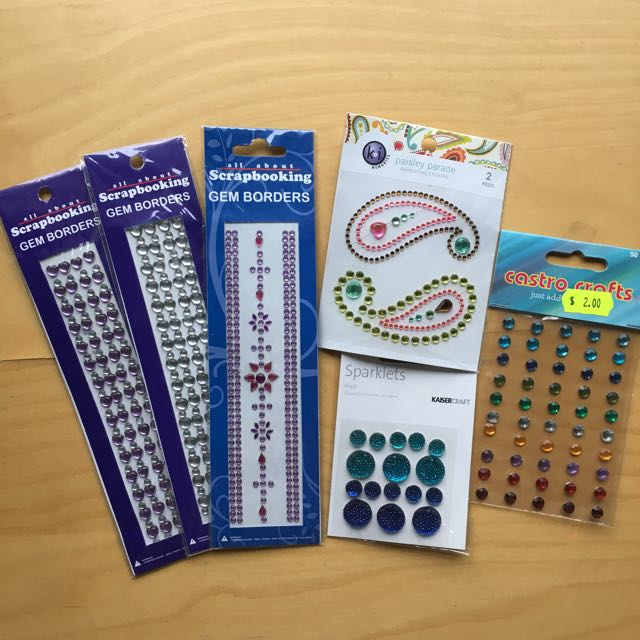 *New* Assorted Adhesive Gems