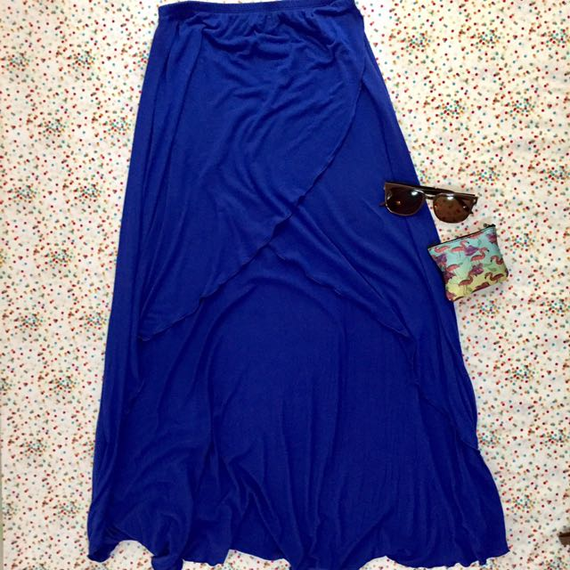 Asymmetrical Blue skirt