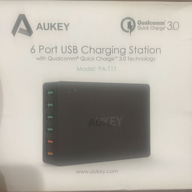 Aukey 6 USB Port Charging Station - Best For IPhone/Samsung