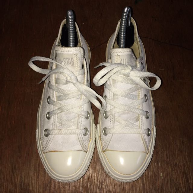 Authentic All Star Converse White Leather