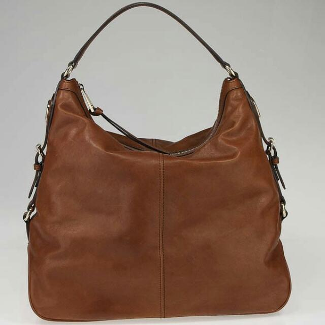 Authentic Gucci Brown Leather Village Large Hobo Bag