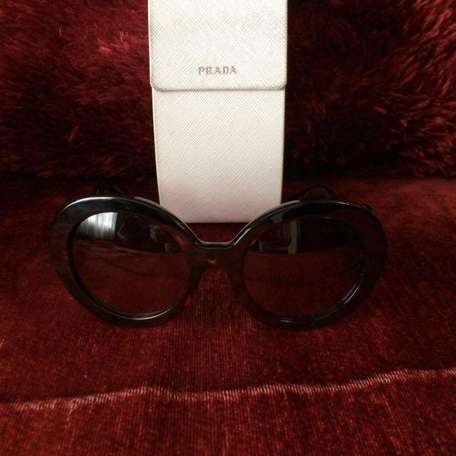 510ddca0915 ... wholesale authentic prada baroque sunglasses in tortoise brown womens  d6c3e e5b31 ...