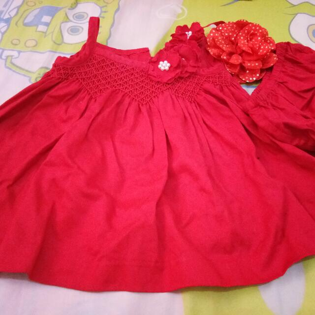 Baby Dress Set undes And headband