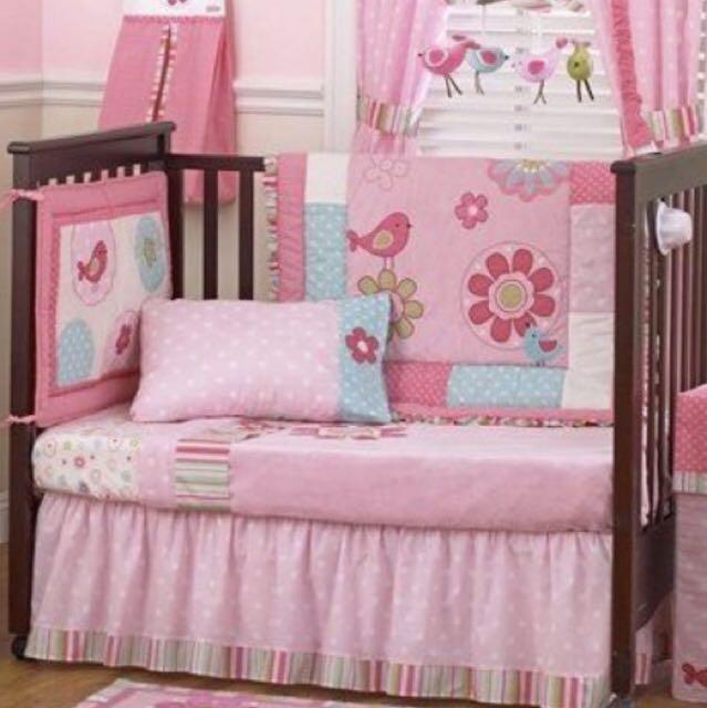 Baby Girl Cot Set