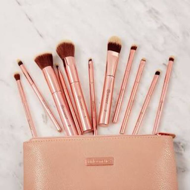 BH Cosmetics Rose Gold Metal Brush Set