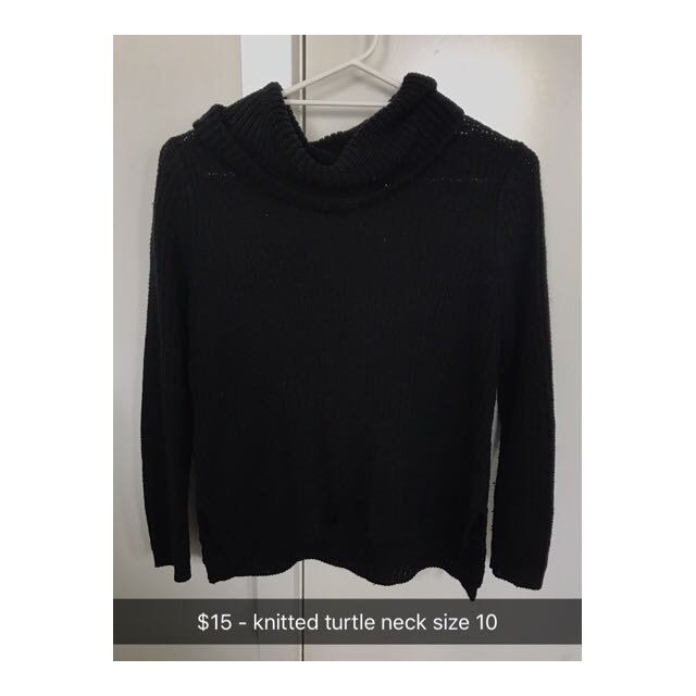 Black Knitted Turtle Neck