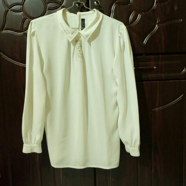 Blouse Putih Import