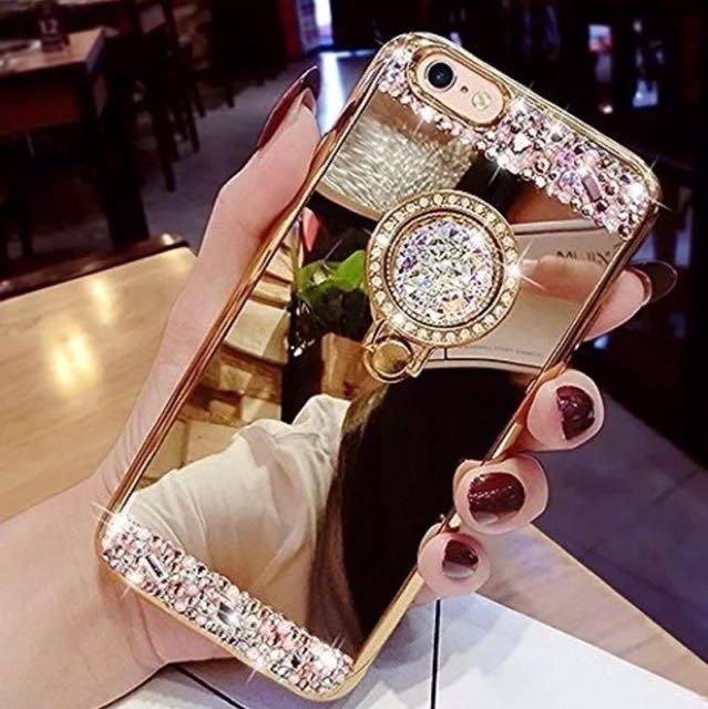 Brand New! IPhone 6/6s Macbou Luxury Crystal Rhinestones Gold Case