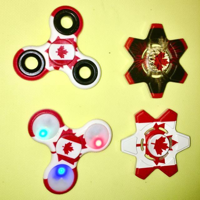 CANADA Day Unique Gift Idea .. Fidget Spinner