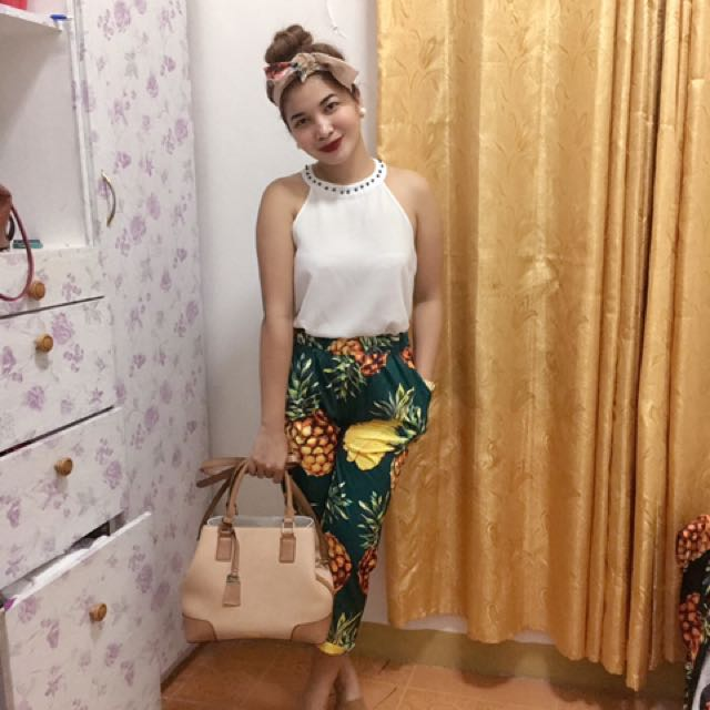 Candy Pants With Pineapple Design