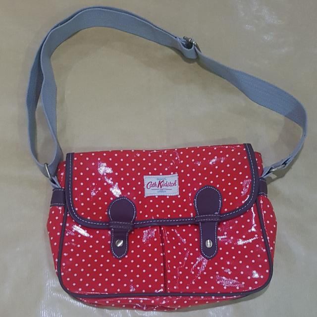 Cath Kidston Imitation Polkadotted Red Bag