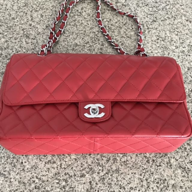 Chanel Classic Red Dounle Flap Bag