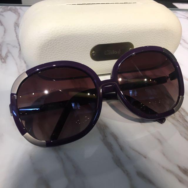 正品 大降價❤️Cholé 紫色 經典款 太陽眼鏡 圓框 Purple Classic Sunglasses #太陽眼鏡出清