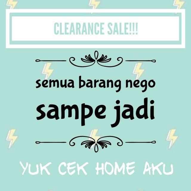 CLEARANCE SALE (CUCI GUDANG)
