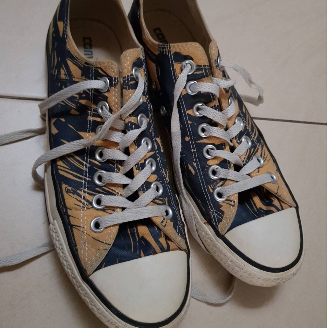 Converse All Star blue chalk yellow