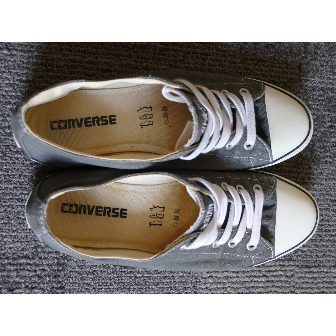 Converse All Star slim ox in dark grey