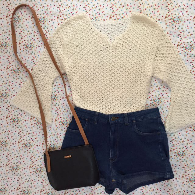 Cream Knit Top