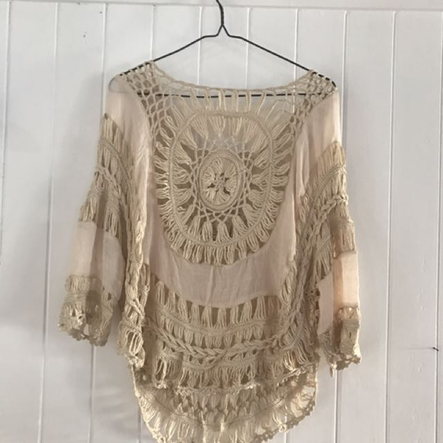 Crocheted Cream Top