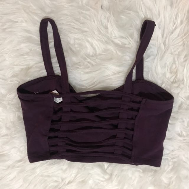 Cropped Purple Tank With Open Back