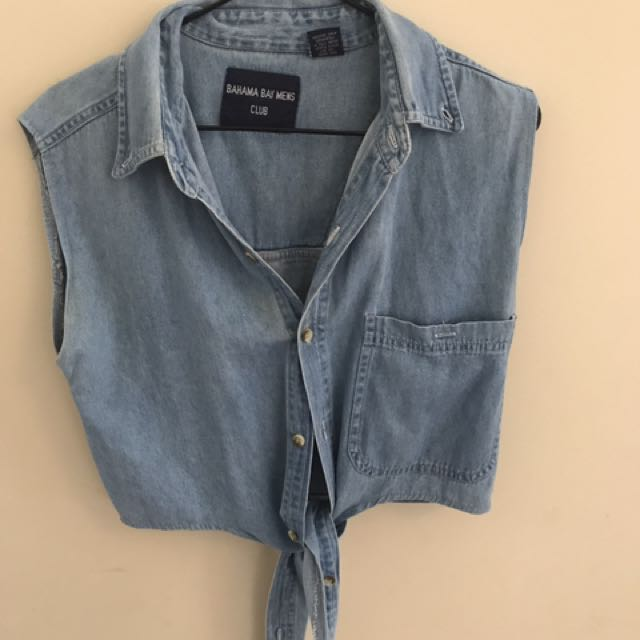 Denim Tie-up Crop Top