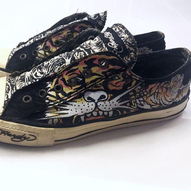 Don Ed hardy Tiger Shoes (black), Men's