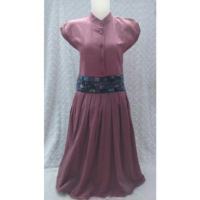 Dress Merah Terasi (gee eight)