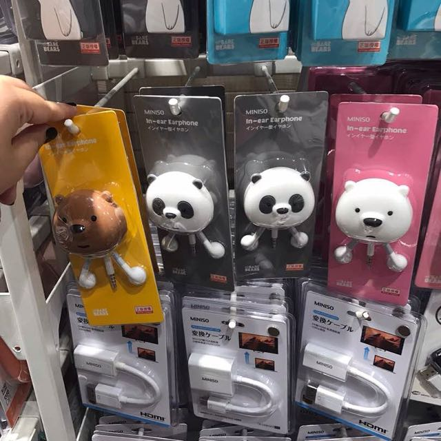 7b0ef73c6fc Earphone we bare bears miniso, Women's Fashion, Women's Accessories on  Carousell