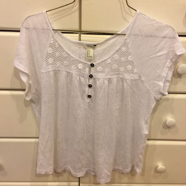 F21 Button Tee