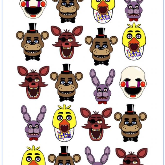 Five Nights At Freddy's Kids Temporary Tattoo