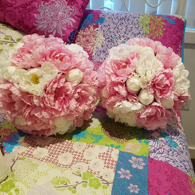 Flower Balls $40 For Both