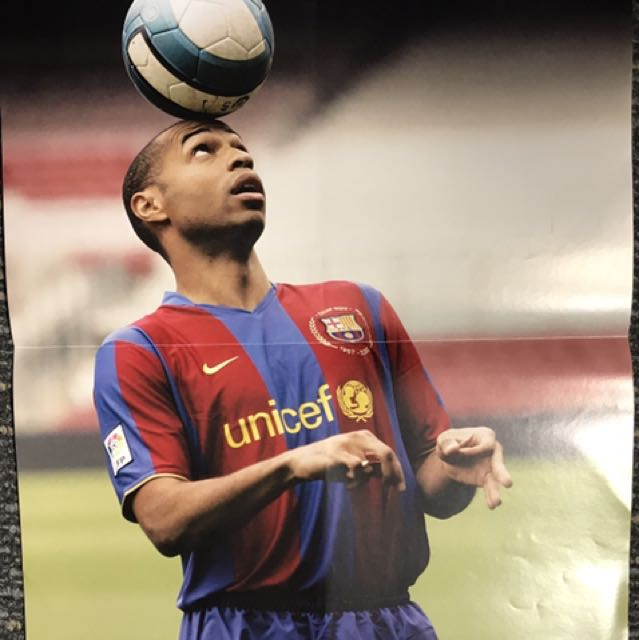 f30fc0502 Football Weekly Original Poster. Thierry Henry Barcelona