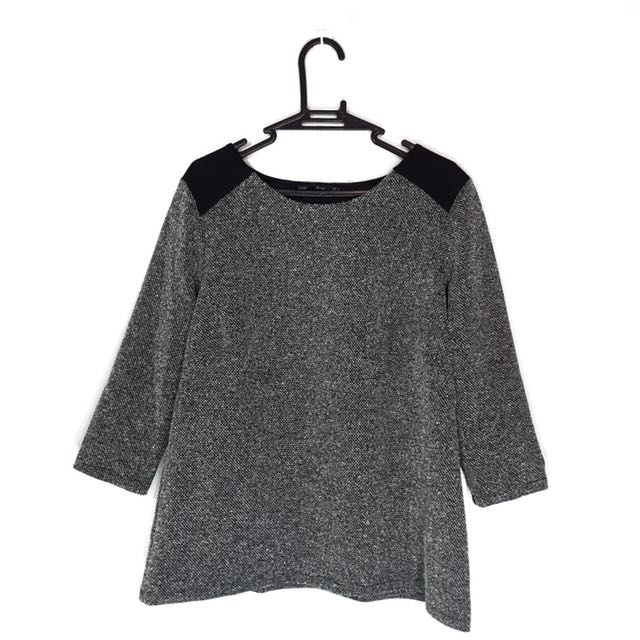 ForMe Black & Gray Long-Sleeved Top