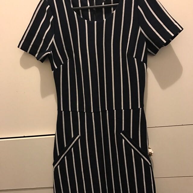 Glassons Striped Dress Small