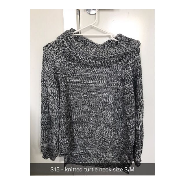Gray Marle Knitted Turtle Neck