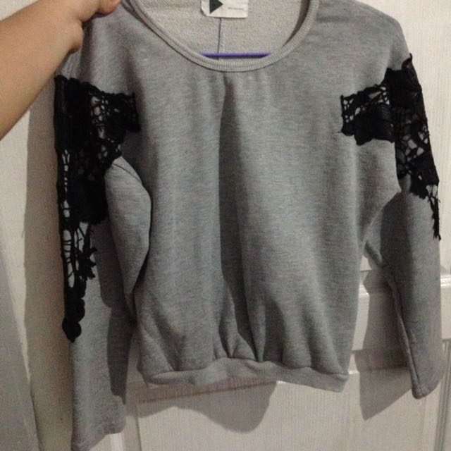 SALE!! Grey Jacket With Lace Details 🌻🌻🌻😱😱
