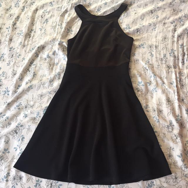 Halter Top Black Dress