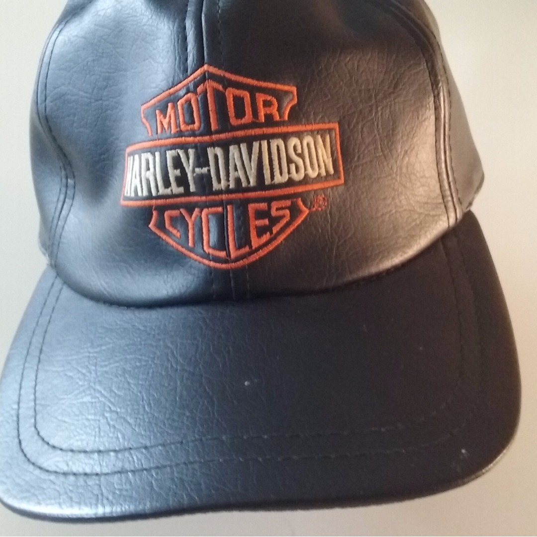 Harley Davidson Leather Baseball Cap . 73d944e684a