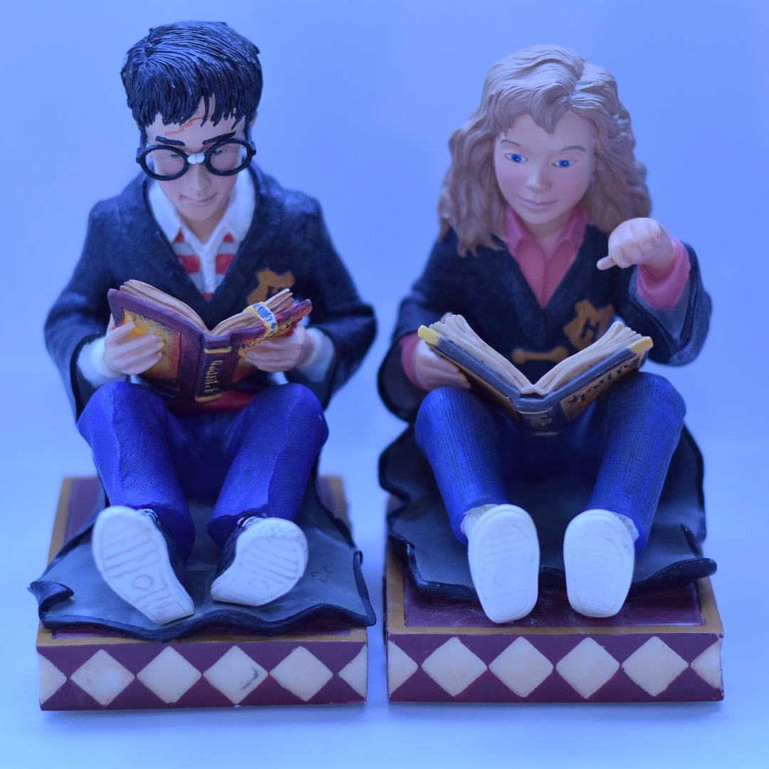 HARRY POTTER BOOKENDS Harry, Hermione