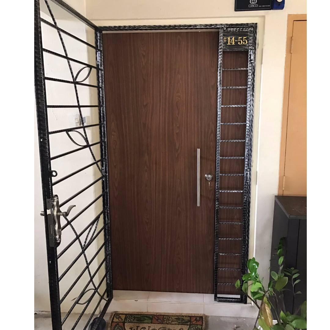 sc 1 st  Carousell & HDB Main Door Gate and Bedroom Door Furniture Others on Carousell