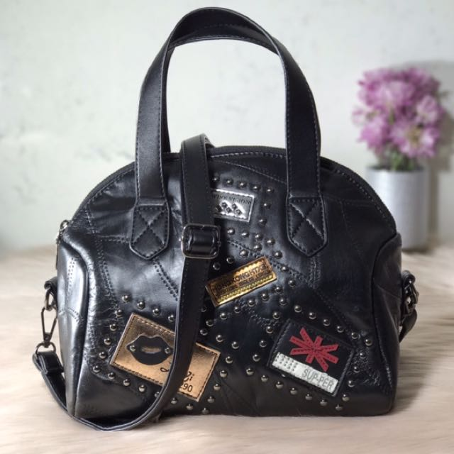 JUNETH (Patches Faux leather Handbag)