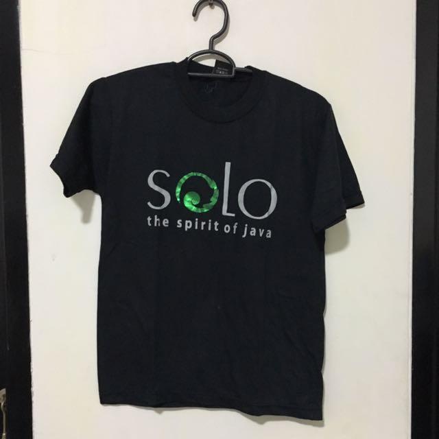 Kaos Hitam Solo T-shirt Atasan Pria Wanita Unisex