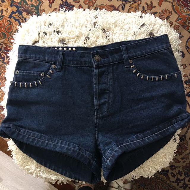Ksubi Studded Denim Shorts
