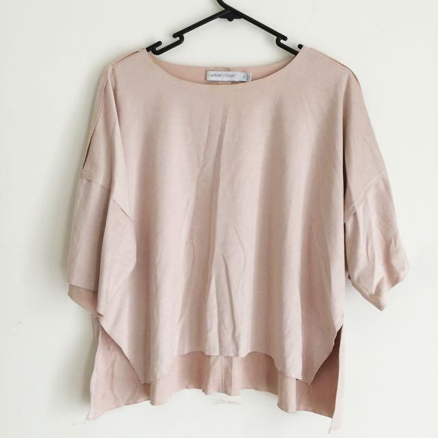 Light Pink Velvet Top