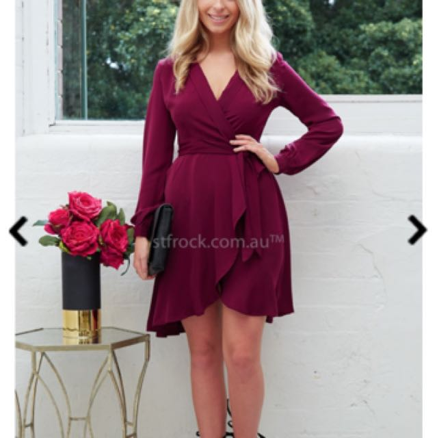 Lucette Dress In Wine