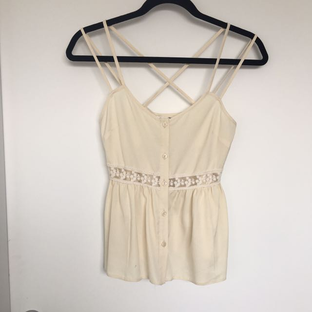 MISS SELFRIDGE Petite Size 6 Cami With Button Front