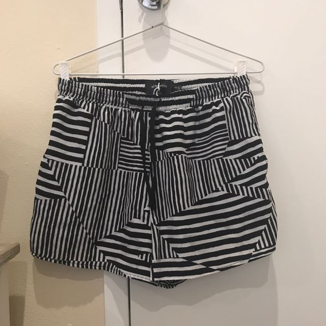 Monk Pink Stripped Shorts