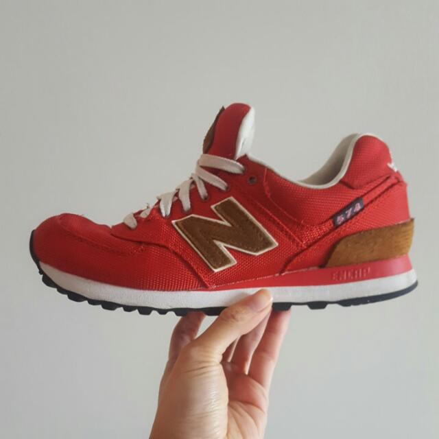 New Balance 574 Red Burgundy