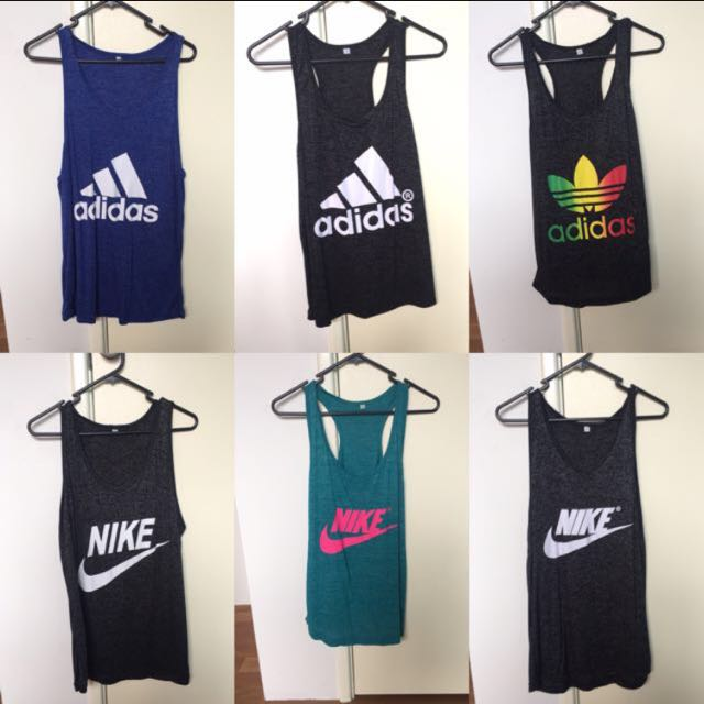 Nike and Adidas Singlets